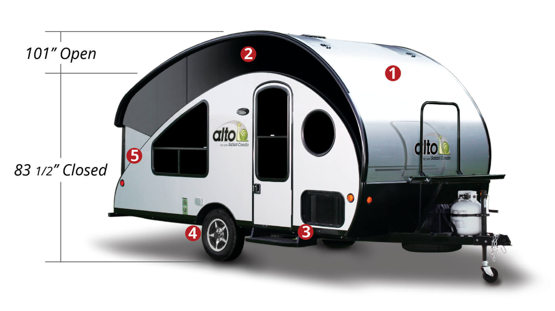 Alto Lightweight Travel Trailers Safari Condo